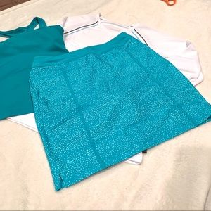 Golf Skort NWT + 2 active tops